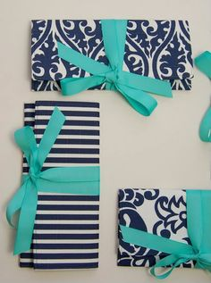 navy + turquoise. loving these colors together!