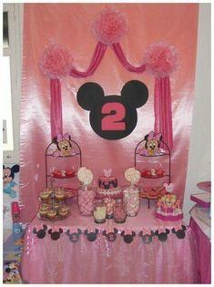 Mesa de postre de Minnie