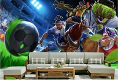 3d room wallpaper high-end custom mural non-woven wall sticker 3 d The World Cup anime painting photo wallpaper for walls 3d #Affiliate