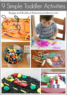 9 Simple Toddler Activities