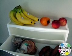 Organized Chaos: Mommy Monday: 3 ways to use IKEA Trones cabinets: use in kitchen as a fruit basket, bread box, and more to keep things off the counters!
