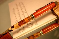 Duplicity - handcrafted wood pen by HopeAndGracePens