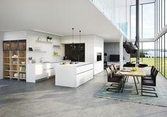 Vida in neonweiß mit supermatter Oberfläche Küchen Design, Interior Design, Random House, Diy Bedroom Decor, Home Decor, Apartment Design, Houzz, Home And Living, Sweet Home