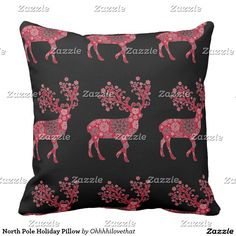 North Pole Holiday Pillow