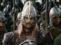 Éomer, helm detail. Also, he's just hot, so uh....yeaaaahhhh.