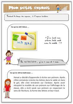 Carnet de suivi maternelle - Exemple observable