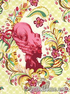 Placemat fabric - Tula Pink Parisville Cameo