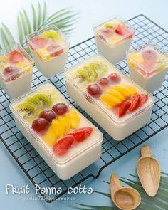Dessert Boxes, Dessert Drinks, Dessert Recipes, Pudding Desserts, Pudding Recipes, Ice Cube Recipe, Indonesian Food, Breakfast For Dinner, Panna Cotta