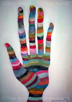 """""""La Mano 3"""", acrylic on canvas, 31 x 43 cm. By Diego Manuel"""