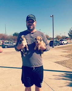 My man (Dog Dad) helping me transport puppies today!  #chickmagnet  . . . . #adoptdontshop #rescuedismyfavoritebreed #dogdadsofinstagram #mustlovedogs #puppies #puppylove @realestaterichygroup Man And Dog, My Man, Puppy Love, Adoption, Dads, Puppies, Instagram, Parents, Fathers