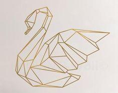 Geometric Heart Wall Decals Home Decor Removable Vinyl Wall Stickers, Geometric Heart Wall Art Bedroom, Australian Made - Modern Decoration Owl Wall Decals, Deer Wall Art, Vinyl Wall Stickers, Vinyl Wall Art, Metal Wall Art, Bedroom Stickers, Geometric Deer, Geometric Drawing, Wall Stickers Geometric