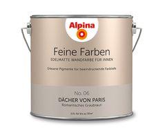 """Alpina Feine Farben """"Dächer von Paris"""": Dieser noble Taupe-Ton liebt und lebt eine kultivierte Eleganz, die er poetisch mit einem Touch Romantik interpretiert."""