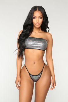 b987bb975 Dirty Diana Bikini - Black Silver