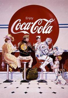 Coca Cola Poster, Coca Cola Ad, Always Coca Cola, Pepsi, Coca Cola Bottles, Vintage Advertisements, Vintage Ads, Vintage Signs, Graphics Vintage