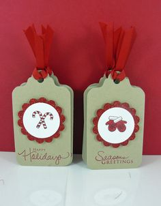 Christmas Glitter Tags Set of 8 by Hairchick on Etsy