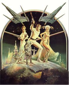 Buck Rogers in the 25th Century by Boris Vallejo (1979) http://70sscifiart.tumblr.com