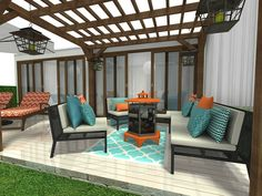 Outdoors at Halloween 🧡 Lazy Summer Days, Home Design Software, Well Thought Out, Outdoor Areas, House Plans, Yard, Layout, Outdoors, Indoor