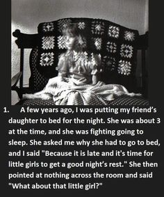 Creepiest Things Kids Said to Babysitters While Their Parents Were Out Lock the doors & sleep with the lights on. These terrifying kid comments will give ya the willies.   **   **  ** **  **  *...