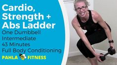 3-in-1 FLUFF BUSTER Ladder (NO AUDIO!) | 45 Minute CARDIO, STRENGTH + ABS ... First, my apologies:  this video has NO AUDIO (silver lining:  crank up your own music!), but I promise it's still a great workout!  We're getting in fat burning CARDIO, muscle toning STRENGTH and six pack-making ABS in a LADDER format.  Actually, THREE ladders - it's like three workouts in one!  Find more FREE workout videos at www.PahlaBFitness.com