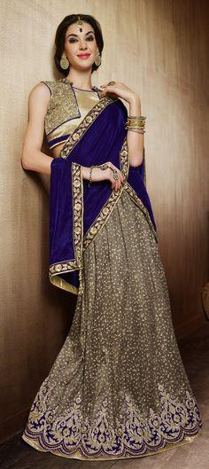 155224: WEDDING LEHENGA - let lots of bling make your look stylish. Check out this designer #Bridalwear.  #weddingcouture #indianwedding #onlineshopping #indianfashion #sale #valentinesday