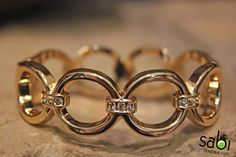 Gold and Diamond Chain Link Bracelet