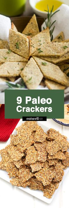 Paleo cracker recipes - try these paleo-inspired homemade cracker recipes for your next snack. They're easy to make and actually good for you.