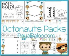 These FREE Octonauts packs are full of lots of fun for your tots and preschoolers!