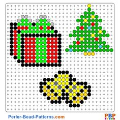 Christmas decoration perler bead pattern. Download a great collection of free PDF templates for your perler beads at perler-bead-patterns.com