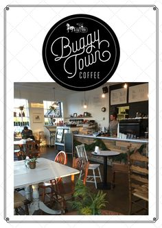 Buggy Town Coffee SERVES:   Breakfast, lunch, quality coffees & teas and delicious pastries in their open, airy space with an urban vibe.  You'll feel like you're in NYC!  Check out their dedicated kids space and their local, handmade goods while you are there.    HOURS:   Monday - Friday: 6am-7pm Saturday: 8am-6pm Sunday: CLOSED  LOCATION: 201 S McNeill Street Carthage, NC 28327  PHONE:  (910) 722-2076