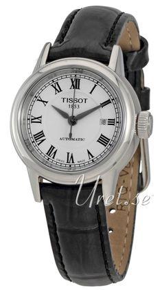 Tissot T-Classic Hvit/Lær Ø29.5 mm klokke, ref T085.207.16.013.00 hos Urverket.no. Materialer & Utseende Modell:T085.207.16.013.00 Serie:T-Classic Type:Damekl
