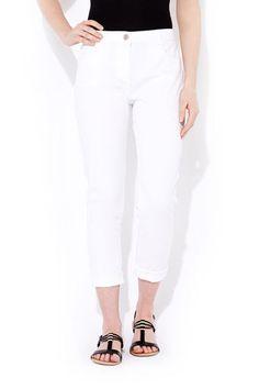 White Petite Roll Up Trouser Wallis £30