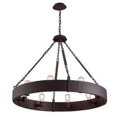 Jackson Copper Bronze Eight-Light Chandelier