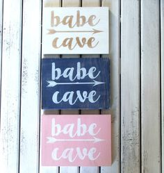 babe cave sign by wallsandwords on Etsy
