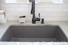 Blanco Metallic Gray Sink If We Do Granite I Like The Idea Of A Grey