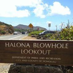Halona Blowhole Lookout, Honolulu, Oahu, Hawaii - A great discovery...