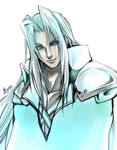 FF7 - Sephiroth by ~Miyukiko on deviantART . . . . and his giant glowy comfy blanket?