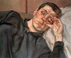 Lucien Freud - Rose 1990 Oil on canvas 50.2 x 61 cm