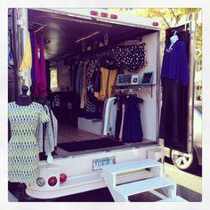 fashion truck www shopstreetboutique fashion truck www shopstreetboutique Boutique Mobiles, Small Boutique Ideas, Bohemian Clothing Stores, Mobile Fashion Truck, Boutique Fashion, Mobile Shop, Store Windows, Pop Up Shops, Vintage Boutique