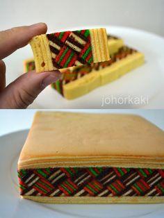 Kek Lapis Sarawak at One Food and Cake House in Pandan City, Johor Bahru