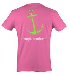 Simply Southern Anchor T-Shirt - Bubblegum Color Simply Southern Shirts, Anchor, Colorful Shirts, Mens Tops, T Shirt, Fashion, Supreme T Shirt, Moda, Tee