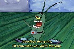 """And when he peaced out, neurotic-style. 