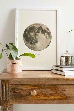 Merci Merci La Lune Art Print - Urban Outfitters