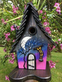 ArtisTree Starry Night Witch Bird House