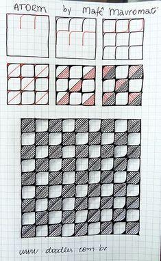Atorm #zentangle #pattern