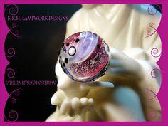 https://flic.kr/p/EJBdAB | Rasberry Dichroic Lampwork Bead | Dichroic Lampwork Bead