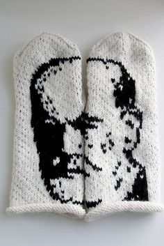 What would Freud say about his face on some mittens?