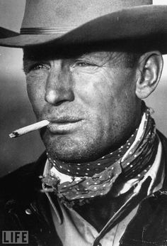 leonardadams answered:  The Marlboro Man    Hey Leonard. This is one of our favorite photographs as well!  Leonard McComb's 1949 portrait of Clarence Hailey Long became the inspiration for the Marlboro Man.