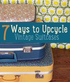 7 Ways to Upcycle Vintage Suitcases #diyready  www.diyready.com