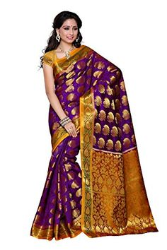 Mimosa Women's Traditional Art Silk Saree Kanjivaram Style With Blouse Color:Mejantha(3310-150-MEJ-MSTD ) - http://www.onlinesaleindia.in/product/mimosa-womens-traditional-art-silk-saree-kanjivaram-style-with-blouse-colormejantha3310-150-mej-mstd/