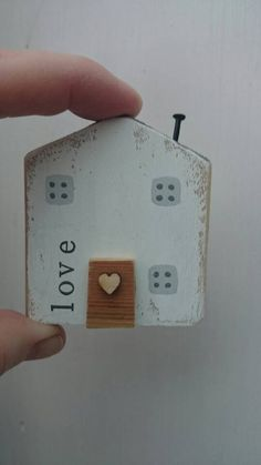 Check out this item in my Etsy shop https://www.etsy.com/uk/listing/511290631/miniature-wooden-house-fridge-magnet